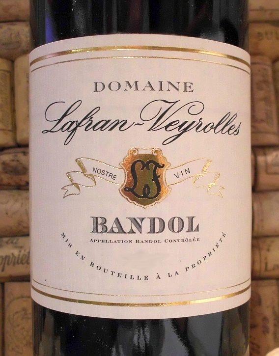 BANDOL Cuvee Speciale, Lafran Veyrolles