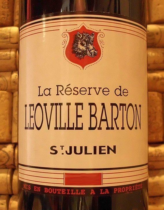 RESERVE DE LEOVILLE BARTON St Julien